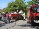 Auch die echte Feuerwehr war da, u.a. mit dem Boot.